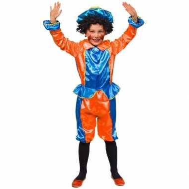 Kinder pietenpakjes oranje/blauw