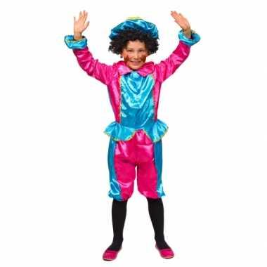 Kinder pietenpakjes roze/turquoise