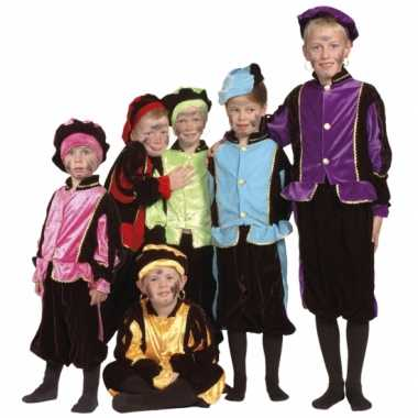 Luxe blauwe pietenpak kinderen