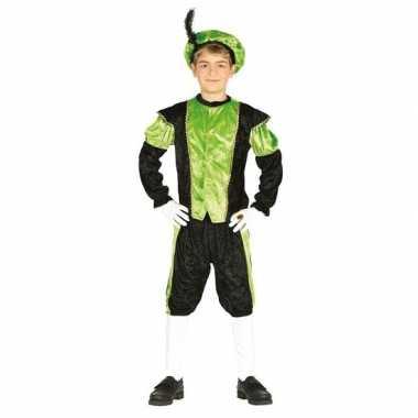 Pieten verkleed pak zwart/groen jongens/meisjes