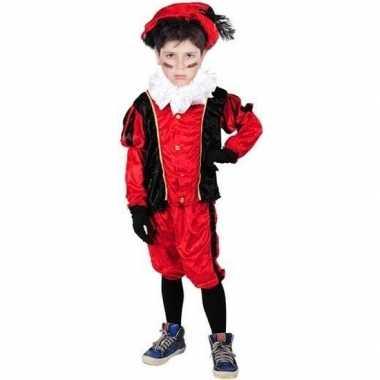 Roetveeg pietenpak rood/zwart kinderen