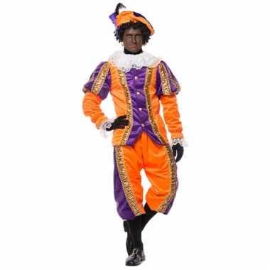 Sinterklaas deluxe pietenpak paars oranje