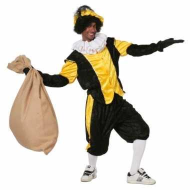 Zwart geel pietenpak