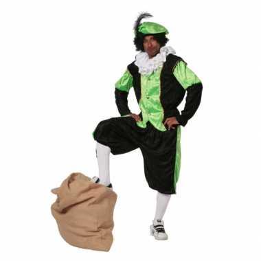 Zwarte Piet pak groen grote maat