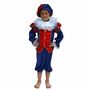 Zwarte Piet pak kind rood/blauw